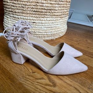 ASOS Ankle Tied Mid Heeled Shoes